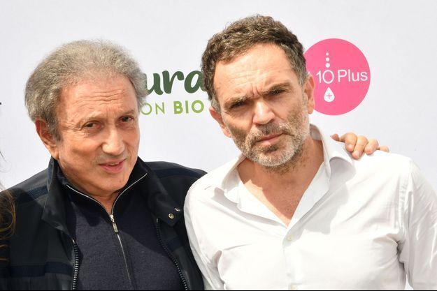 """Michel Drucker et Yann Moix au Festival """"Des livres, des stars""""."""