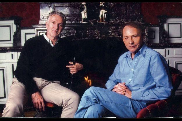 Gilles Martin-Chauffier et Michel Houellebecq