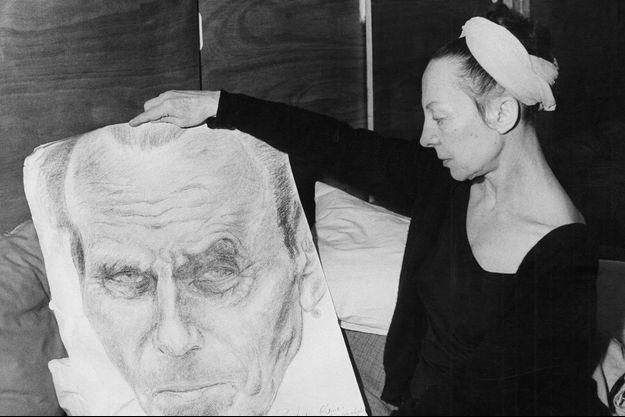 Lucette Destouches, la veuve de Louis Ferdinand Céline en 1969.