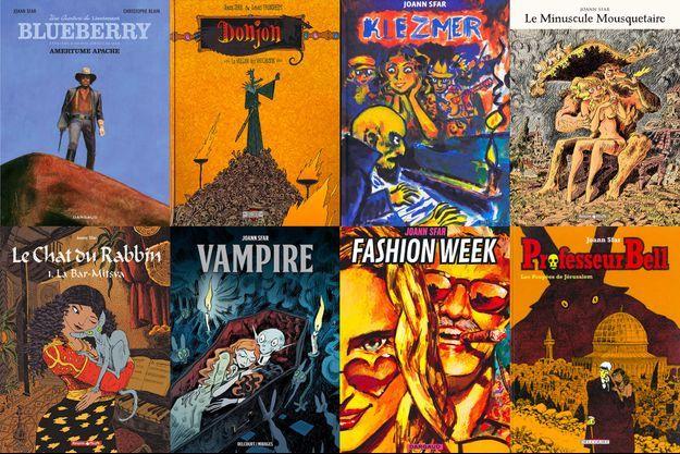 Une sélection de bandes-dessinées de Joann Sfar