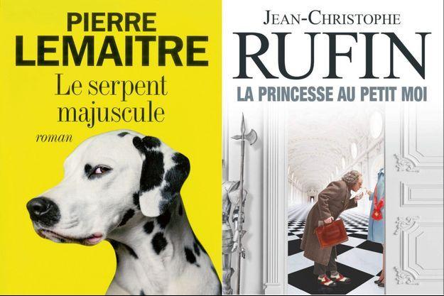 « Le serpent majuscule », de Pierre Lemaitre, éd. Albin Michel et « La princesse au petit moi », de Jean-Christophe Rufin, éd. Flammarion.