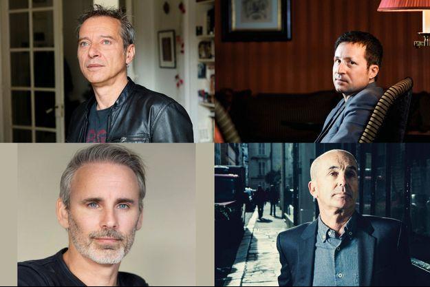 De g. à d. et de h. en b. : Caryl Férey, Thomas Bronnec, Paul Cleave et Don Winslow.