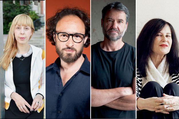 Lola Lafon, David Le Bailly, Franck Bouysse et Irène Frain.