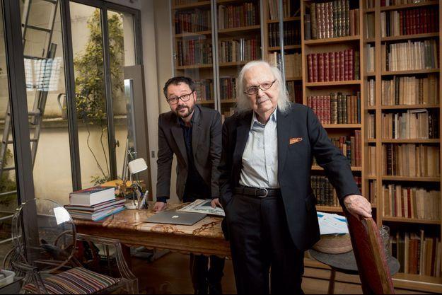 Riad Sattouf et Alain Rey.