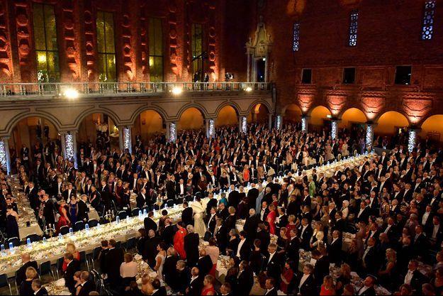 Le banquet des Nobel, à l'hôtel de ville de Stockholm, en décembre dernier.