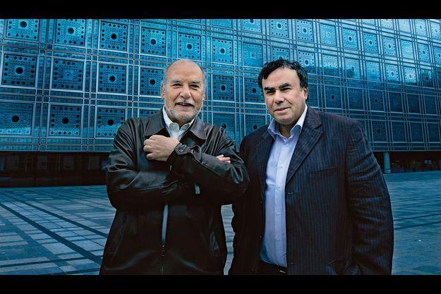 Tahar Ben Jelloun (à g.) et Benjamin Stora (à dr.)
