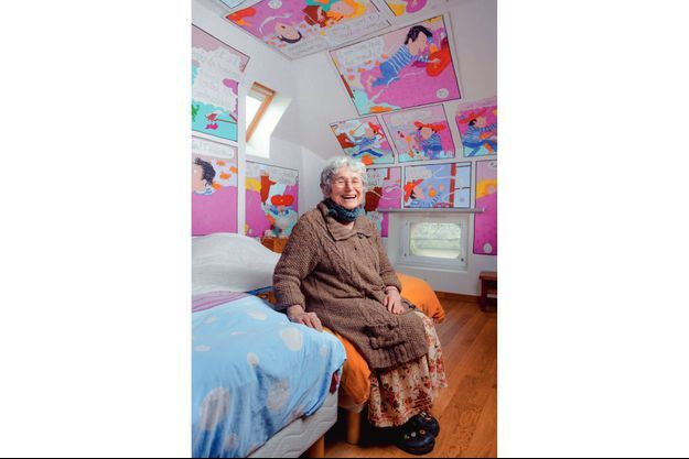 """Bernadette Després, la dessinatrice de """"Tom-Tom et Nana""""."""