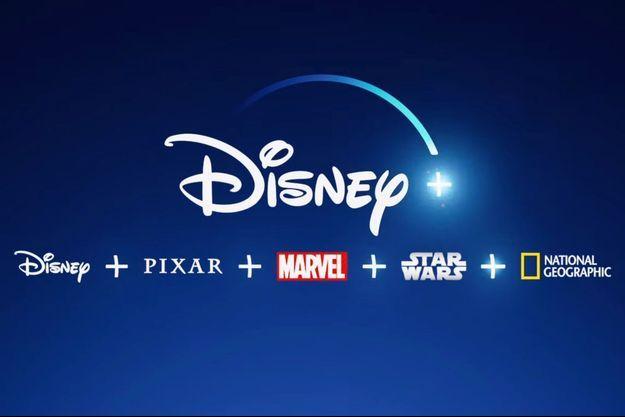 Le logo de Disney +.