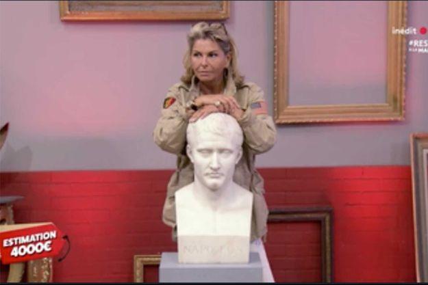 Caroline Margeridon a remporté la mise pour ce buste de Napoléon Ier.