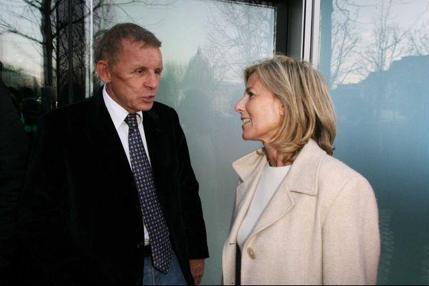 Patrick Poivre d'Arvor et Claire Chazal en 2009.