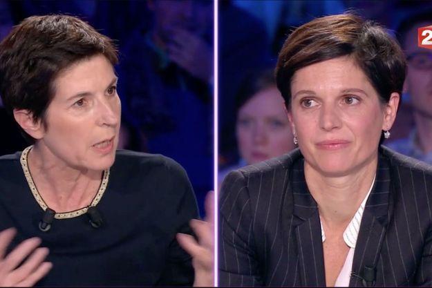 Christine Angot et Sandrine Rousseau samedi sur le plateau d'ONPC.