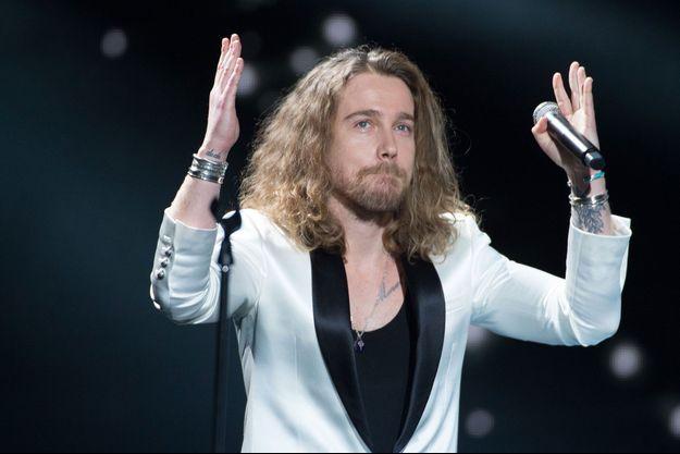 Julien Doré le 9 avril 2018 aux Victoires de la musique.