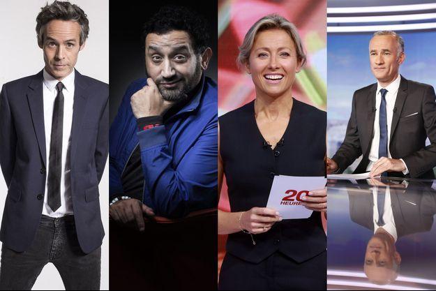 Yann Barthes, Cyril Hanouna, Anne-Sophie Lapix, Gilles Bouleau