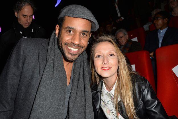 Audrey Lamy et Loup-Denis Elion en mars 2016 à Valenciennes.
