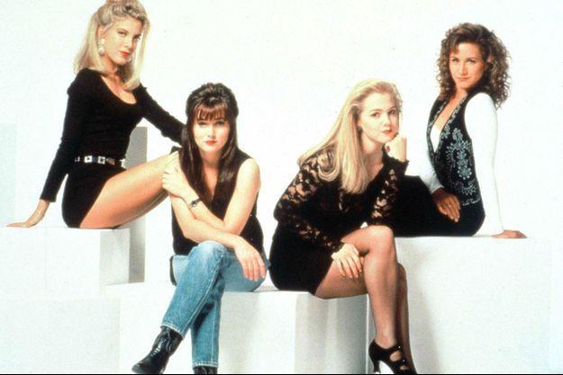Tori Spelling, Shannen Doherty, Jennie Garth et Gabrielle Carteris.