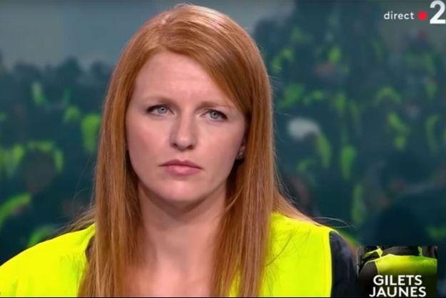 Ingrid Levavasseur sur le plateau du JT de France 2.
