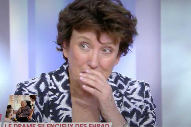 """Roselyne Bachelot sur le plateau """"C à vous"""" mercredi."""