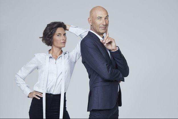 Alessandra Sublet et Nicolas Canteloup.