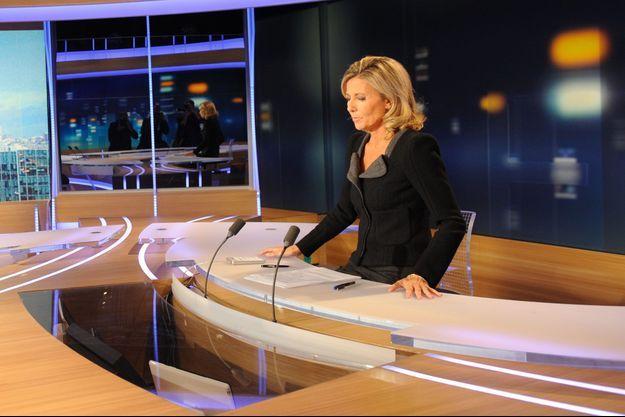 Claire Chazal en septembre 2011, lors de son interview avec Dominique Strauss-Kahn, la première après l'affaire du Sofitel de Manhattan.