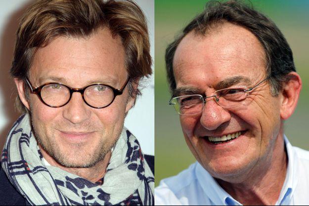Jean-Pierre Pernaut (D) et Laurent Delahousse font partie des présentateurs de JT les mieux payés en France.