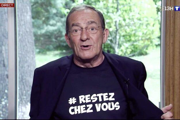 Jean-Pierre Pernaut lors du JT de 13 heures TF1 mardi.