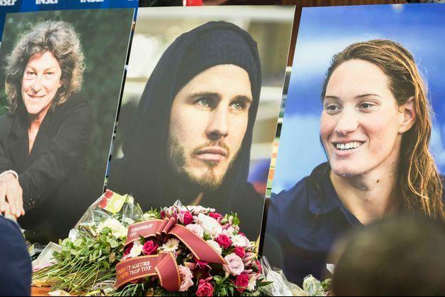 Trois des victimes du crash : Florence Arthaud, Alexis Vastine et Camille Muffat.