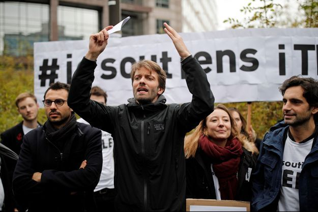 Antoine Genton, président de la société des journalistes d'iTELE, vendredi 4 novembre.