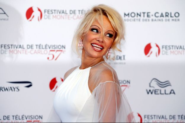 Pamela Anderson lors du Festival de Monte-Carlo.