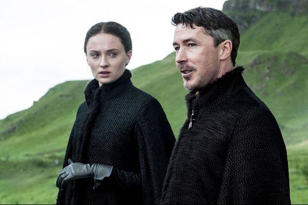 Sansa Stark (Sophie Turner) et Littlefinger (Aidan Gillen).