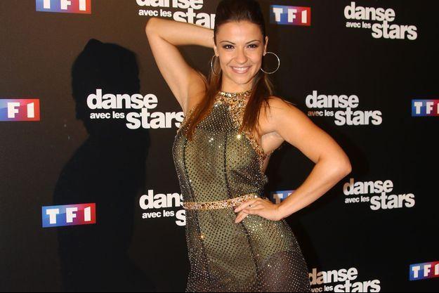 """Denitsa Ikonomova lors de la conférence de présentation de la nouvelle saison de """"Danse avec les stars"""" en septembre."""