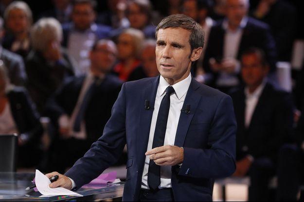 David Pujadas sur France 2 en octobre 2016.