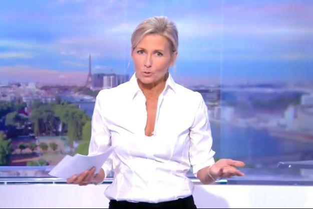 Claire Chazal sur TF1, dimanche soir.