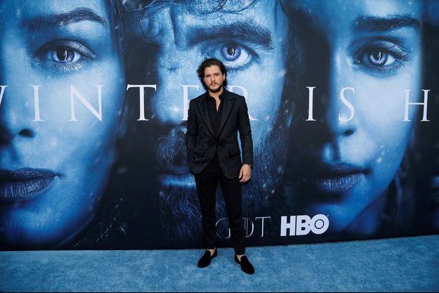 "Kit Harington à l'avant-première de la saison 7 de ""Game of Thrones"" en juillet à Los Angeles."