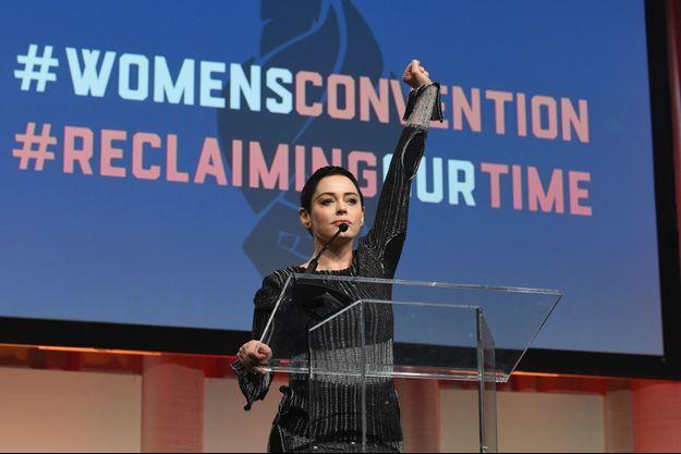Rose McGowan à Detroit en octobre dernier.