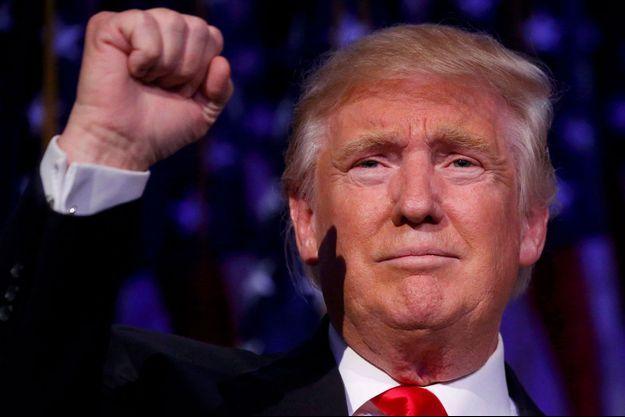 Donald Trump lors de son discours de victoire mercredi à Manhattan.