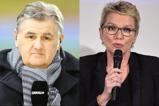 Pierre Ménès et Elise Lucet.