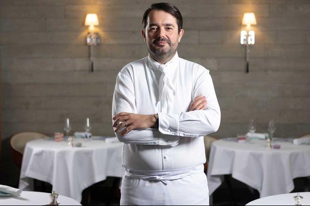 Jean-François Piège dans l'un de ses restaurants en 2019.