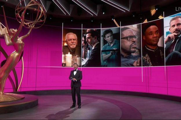 Le présentateur Jimmy Kimmel lors de la cérémonie virtuelle des Emmy Awards 2020.