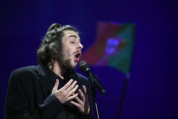 Salvador Sobral lors de l'Eurovision.