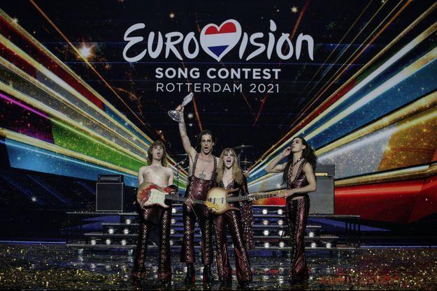 Le groupe Måneskin, victorieux à l'Eurovision 2021.