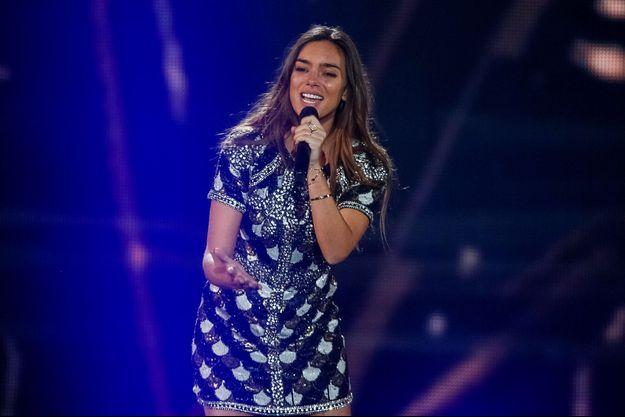 Alma lors de la finale de l'Eurovision samedi.