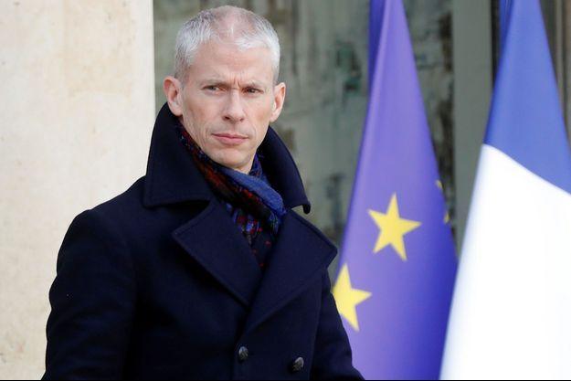 Le ministre de la Culture Franck Riester, le 24 janvier 2020, à l'Elysée.
