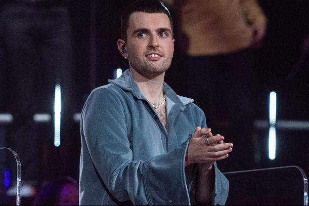 """Duncan Laurence lors de sa participation à """"Eurovision France, c'est vous qui décidez !""""."""