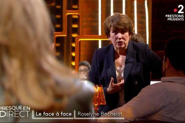 """Roselyne Bachelot sur le plateau d""""On est presque en direct"""" samedi sur France 2."""