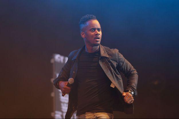 Black M lors d'un concert à Lille, le 4 avril 2016.
