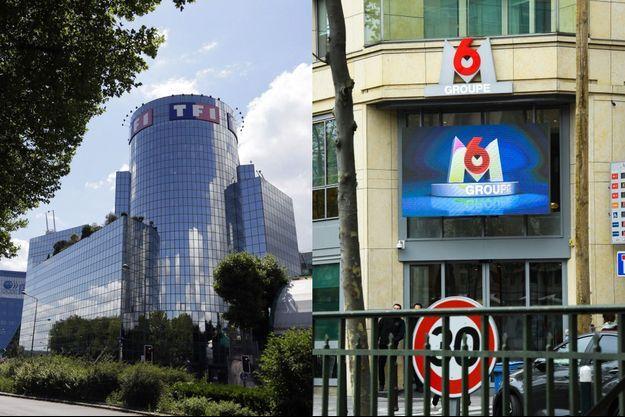 La tour TF1 et les locaux de M6.