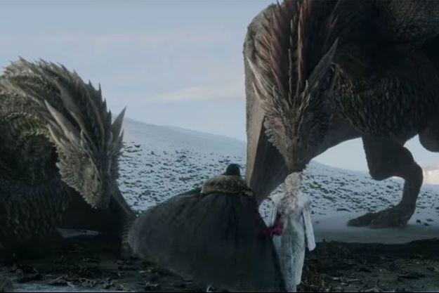 """Jon Snow et Daenerys Targaryen dans la bande-annonce de la saison 8 de """"Game of Thrones""""."""