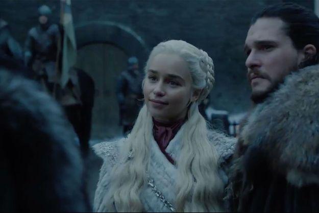 Daenerys Targaryen lors de sa rencontre avec Sansa Stark dans des images inédites de la saison 8.