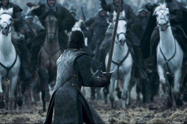 """Jon Snow durant la bataille des bâtards, dans la saison 6 de """"Game of Thrones""""."""