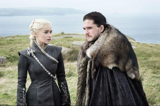 Daenerys Targaryen (Emilia Clarke) et Jon Snow (Kit Harington).